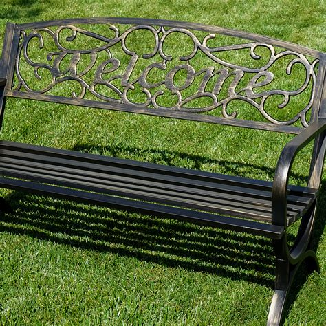 decorative park bench decorative outdoor benches elegance welcome design outdoor