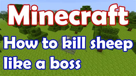 minecraft tips and tricks how to kill the wither boss how to kill sheep like a boss minecraft project