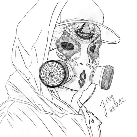 j undead undead mask drawing www imgkid the image kid has it