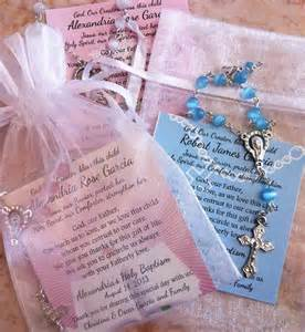 Favors For Baptism by Baptism Favors Rosaries In Mini Organza Bag And Card