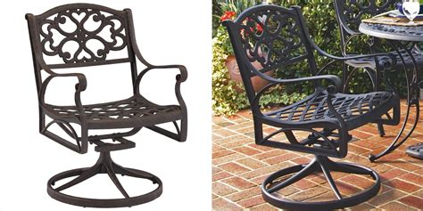 Used Patio Chair Swivel Rocker by Darlee Monterey Patio Swivel Dining Chair In Antique