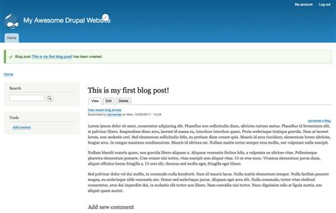 tutorial adding configuring and using the drupal blog drupal tutorial for beginners learn to build a drupal