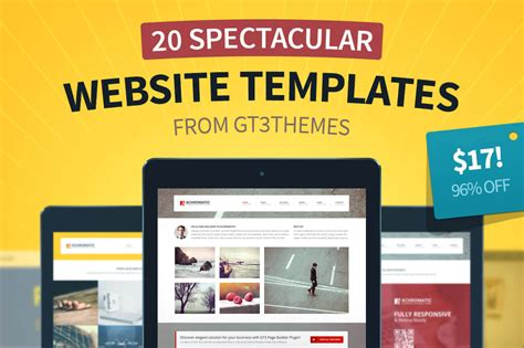 templates for deals website last day 20 superb new website templates from gt3themes