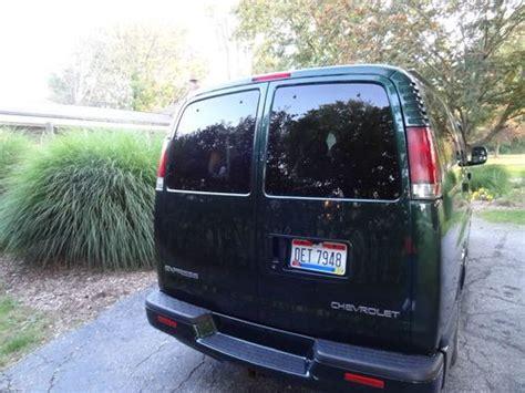 purchase   chevrolet express  ls passenger van   good condition dark green