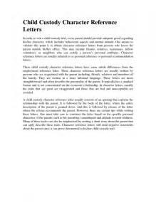 Support Letter For Guardianship Sle Declaration Letter For Child Custody Best Business Template