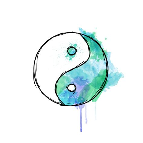 yin yang watercolor tattoo yin yang watercolor ink yin yang
