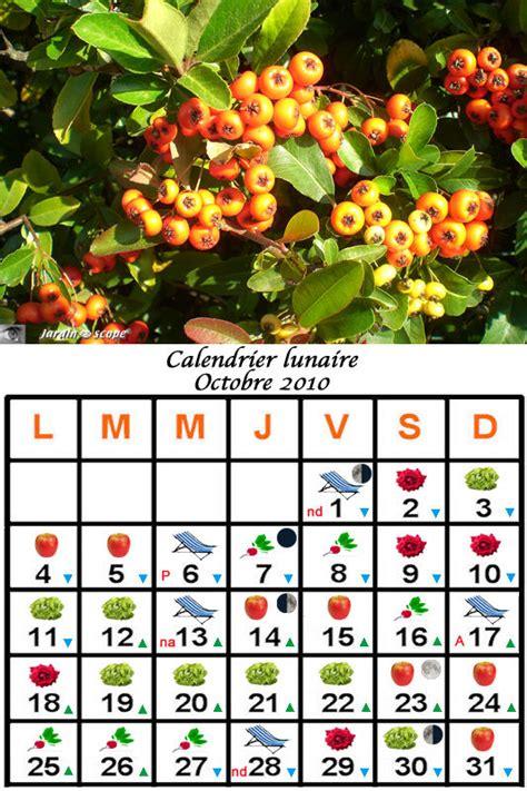 Calendrier Lunaire Novembre 2010 Jardiner Avec La Lune Au Mois D Octobre 2010 Le