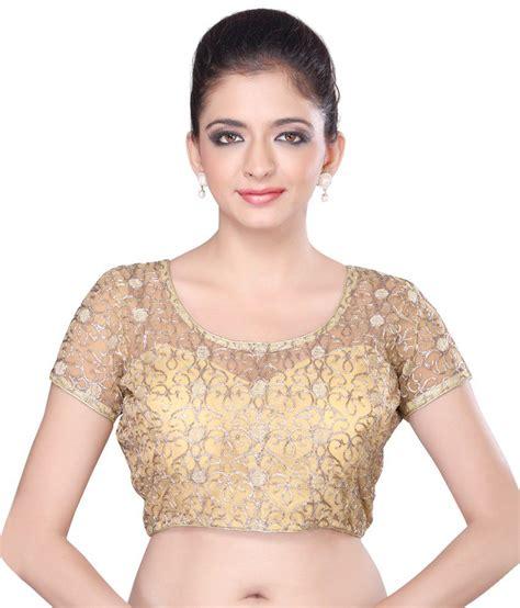Jedar Blouse 2 N1 msm gold net blouses buy msm gold net blouses at