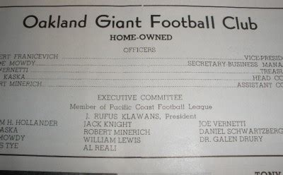pacific coast contract lighting pacific coast football league program and player contract