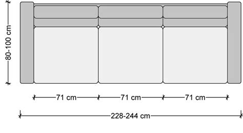 Standard Length Of A Sofa by Standard Furniture Dimensions Metric Great Home