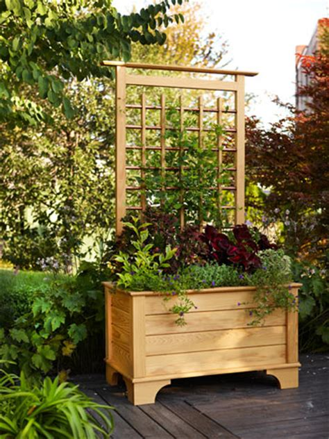 planter box  trellis woodworking plan