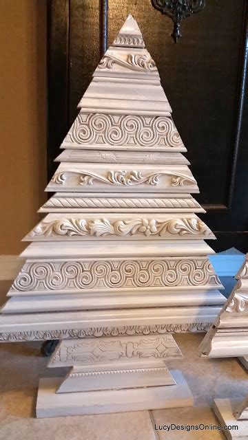 alternate christmas tree picture frame alternative tree set wood tree sculptures using decorative molding and recycled