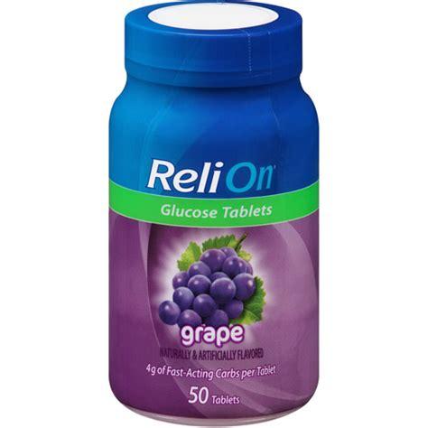 Tablet Relion relion grape glucose tablets 50 count walmart