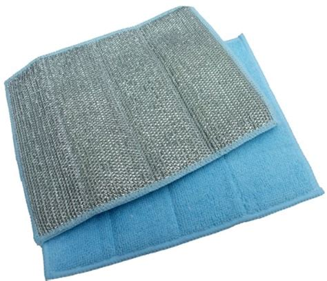 Kitchen Pads by Sinland Scouring Pad Microfiber Dish Cloth Home Kitchen Stainless Steel Scrubbing Pads With