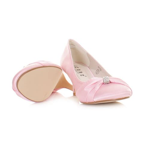 light pink infant shoes low heel pink wedding shoes boot hto