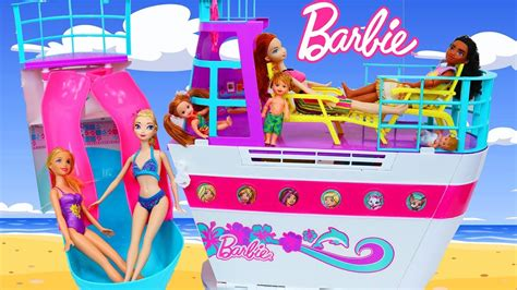 barbie ship videos barbie cruise ship boat swimming pool dollhouse inside