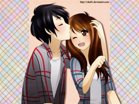 wallpaper gambar couple sweet couple anime wallpaper wallpapersafari