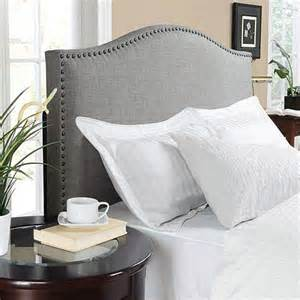 King Size Bed With Fabric Headboard by King Size Upholstered Linen Fabric Headboard