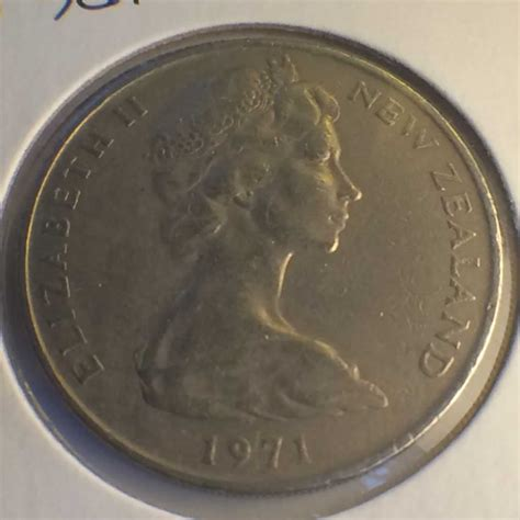 Nem 20c 1971 new zealand 1967 1985 elizabeth ii 20 cents