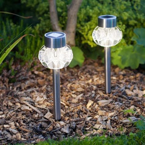Garden Lights Solar by Set Of Four Solar Stake Lights By Lights4fun