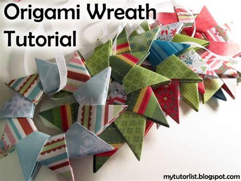 Origami Wreath Ornament - origami wreath tutorial
