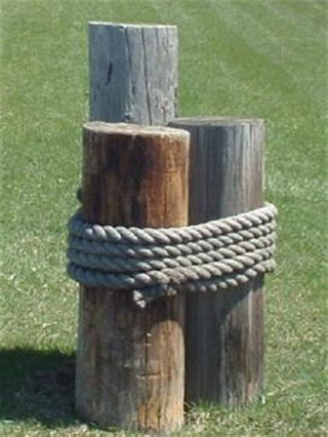 Wood 3 Pier Post Tealight 50 Ft Decorative Manila Rope Landscaping Dock Pier Boat Ebay