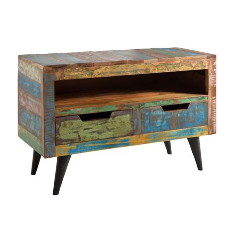 reclaimed wood tv cabinet reclaimed wood tv stand retro eco friendly wooden media