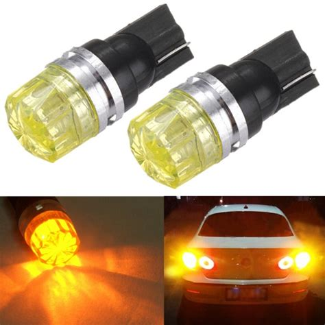 Led T10 Yelow Ultra Bright 10 Titik 1 5w car wedge yellow led t10 side turn light cob bulb l us 1 99