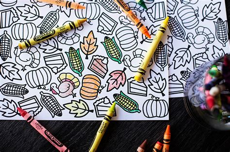 thanksgiving coloring placemats printable thanksgiving coloring placemat all for the boys