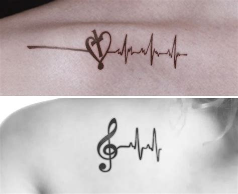 heartbeat piano tattoo 8 heartbeat tattoo designs that are worth trying music