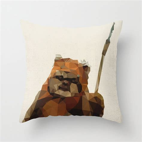 Ewok Pillow by Wars Polygon Pillow Covers The Geometric Side Of The