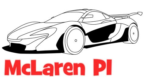 How To Draw Mclaren P1 Sports Car как нарисовать