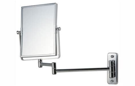 reversible magnifying wall mirror on adjustable arm