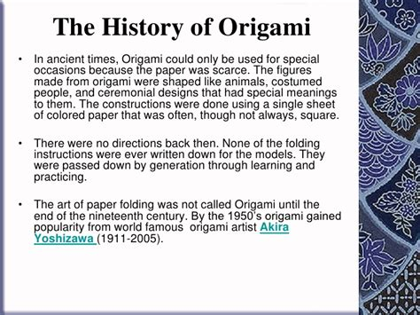 Origins Of Origami - how to fold origami