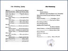 wedding bulletin templates 6 best images of free printable church program template