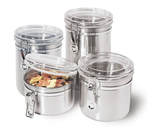 canister sets for kitchen 5 best stainless steel kitchen canister set convenient