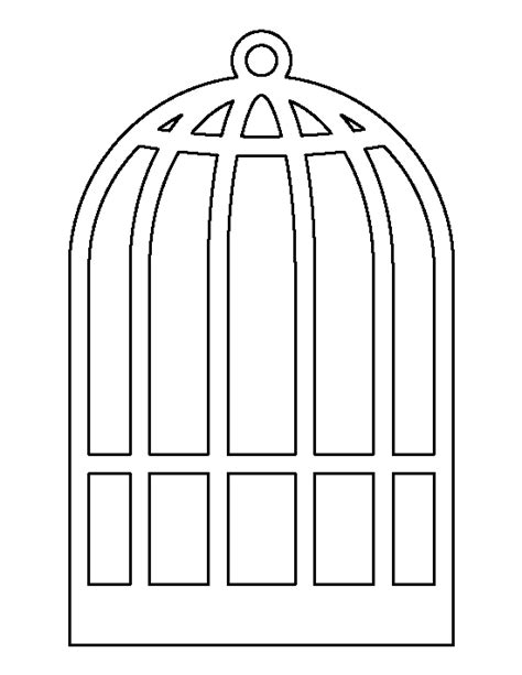 Cage Card Template by Bird Cage Pattern Use The Printable Outline For Crafts