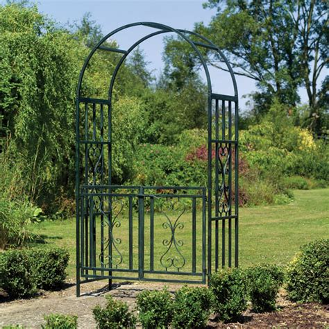 Garden Arch With Gate Uk Uk Garden Supplies Kensington Metal Garden Arch With Gates