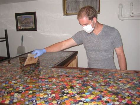 bottle cap bar top bottle cap counter for the home pinterest
