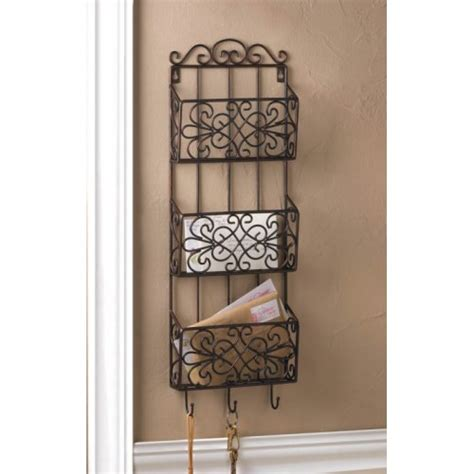 decorative wall rack new decorative hanging wall rack mail organizer