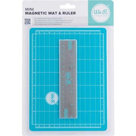 mini magnetic cutting mat ruler set