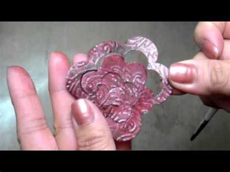 marie paper flower tutorial mft rolled rose grunge paper flower tutorial youtube