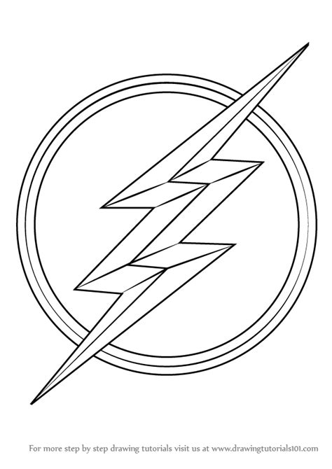 flash logo templates how to draw flash logo learn the symbol sketch coloring page