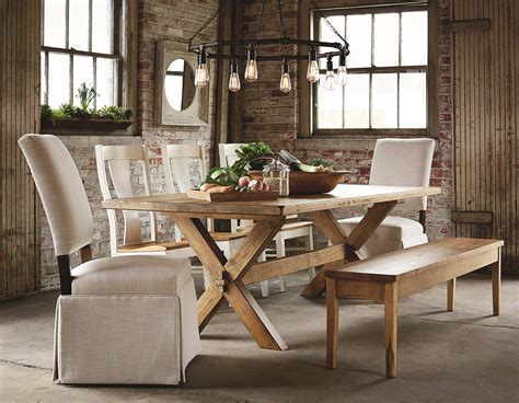 bench made furniture bassett bench made 4015 7242 72 quot rectangular table with industrial style dunk