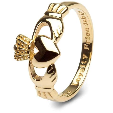mens 14k gold claddagh ring smg 14g7