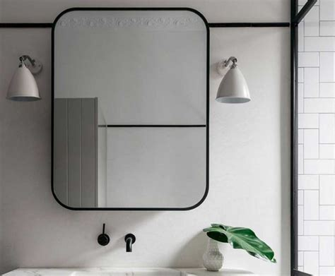 metal framed bathroom mirrors how to frame a bathroom mirror with metal best 25 black