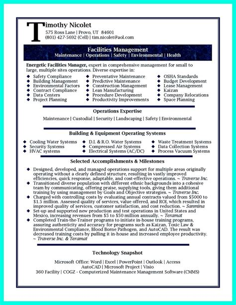 inspiring manager resume to be successful in gaining new