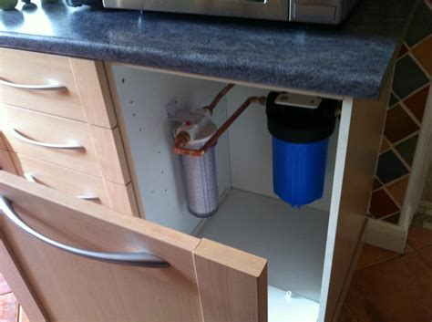 water filter in cupboard dartford plumber
