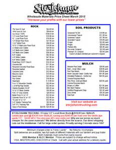 low cost landscape supplies pricing