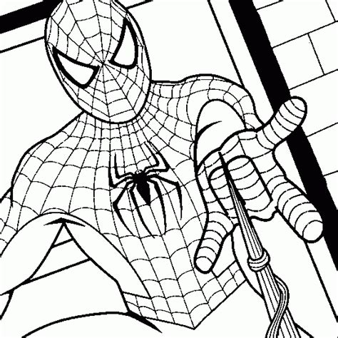 spiderman coloring spiderman colouring book pages print colour